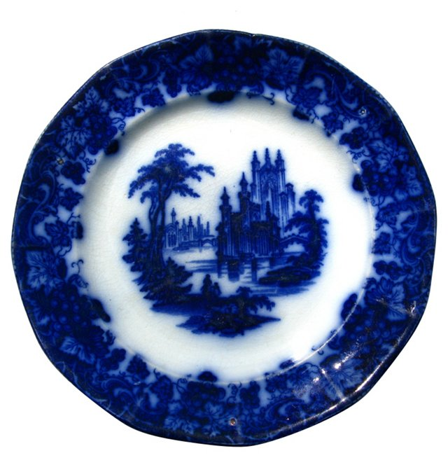 Antique Flow Blue Wall   Plate