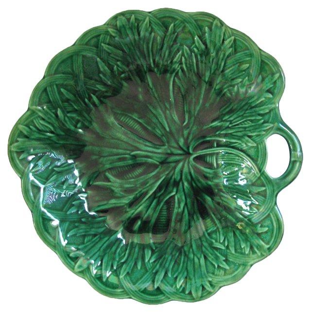 Wedgwood Majolica Leaf    Dish