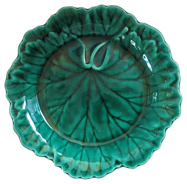 Wedgwood  Majolica Leaf    Plate