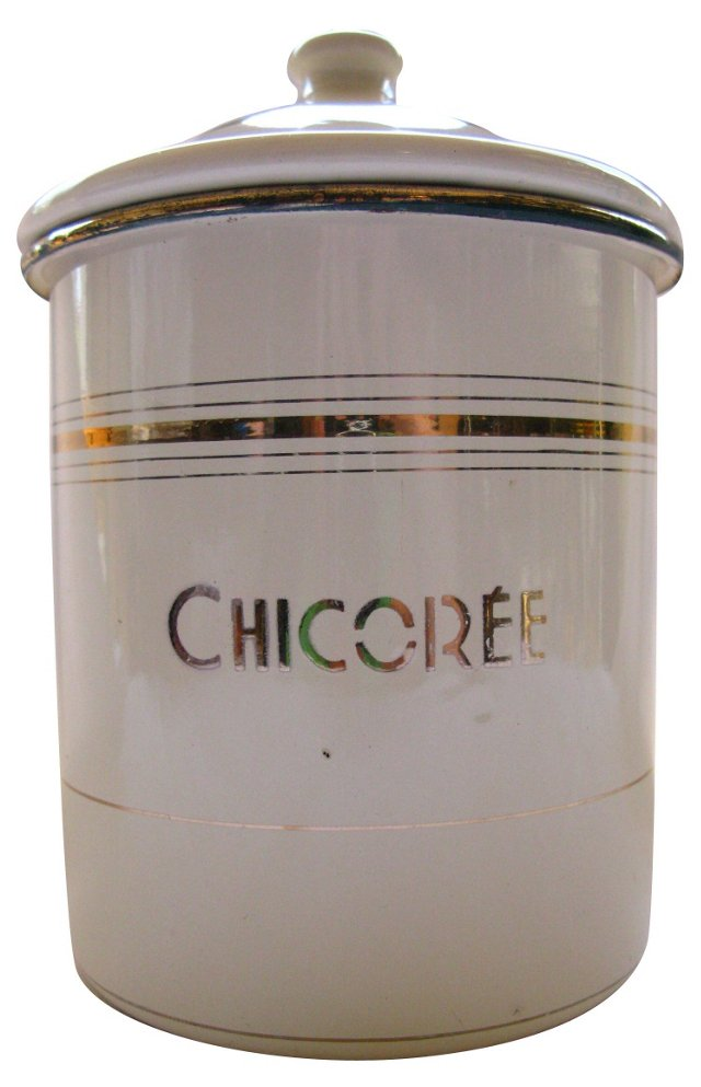 French Graniteware Chicoree Canister