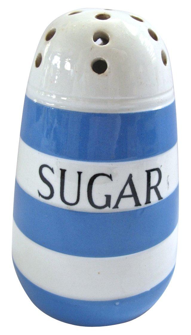 English  Cornishware Sugar  Shaker