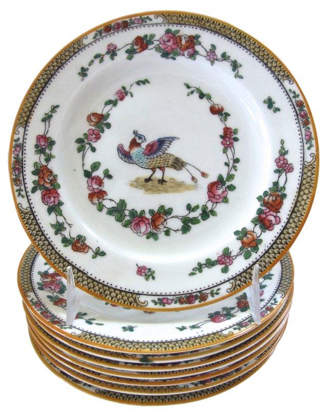 George Jones Porcelain Side Plates, S/8