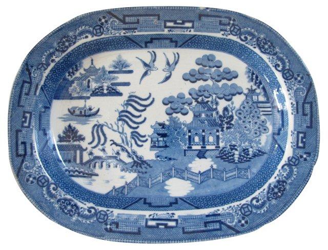 Staffordshire Willow Platter, C.1820
