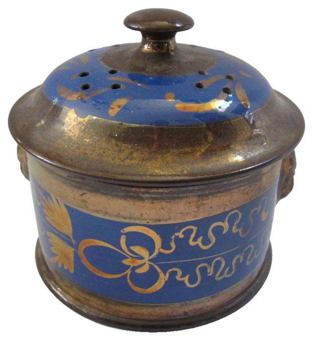 Luster & Lion Potpourri Pot, C. 1840