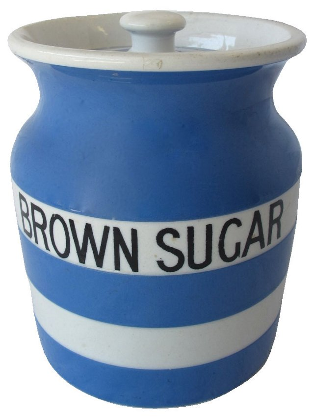 English Cornishware Brown Sugar Canister