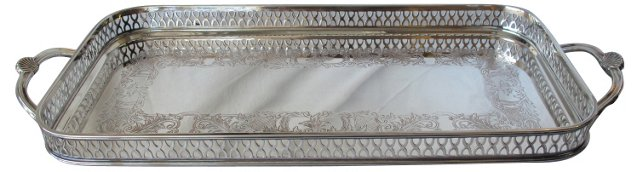 English Silverplate  Gallery  Tray