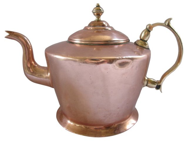 English Copper & Brass Tea Kettle
