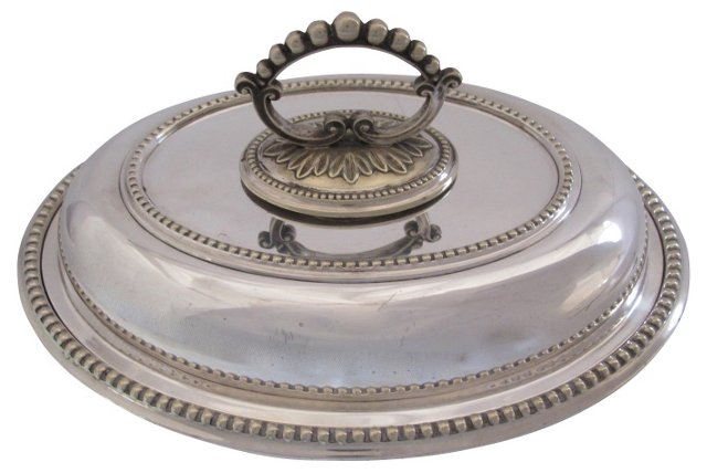 Antique English Silverplate Serving Dish