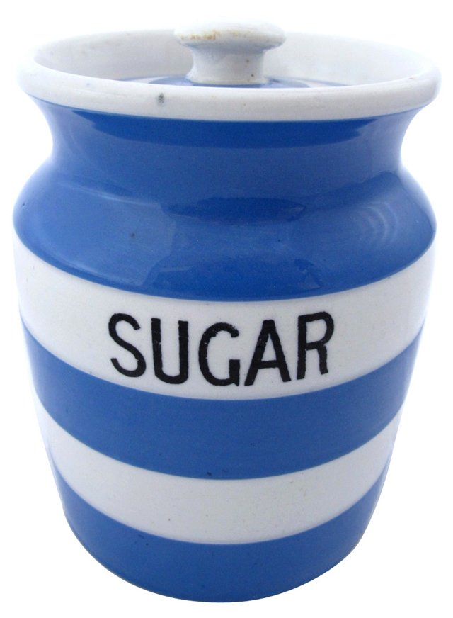 T.G. Green Cornishware Sugar Canister