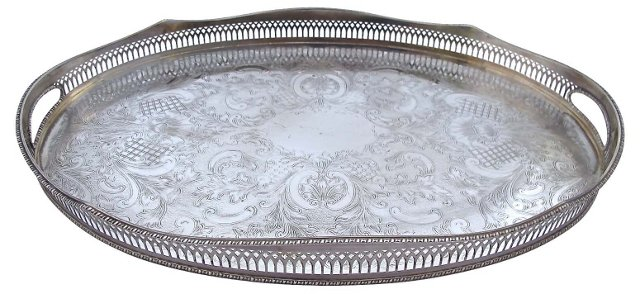 English Reticulated Edge Gallery Tray