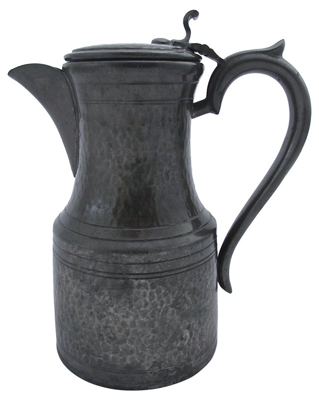 Arts & Crafts Hammered Pewter Pitcher