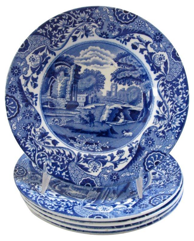 Copeland Spode's   Italian Plates, S/5