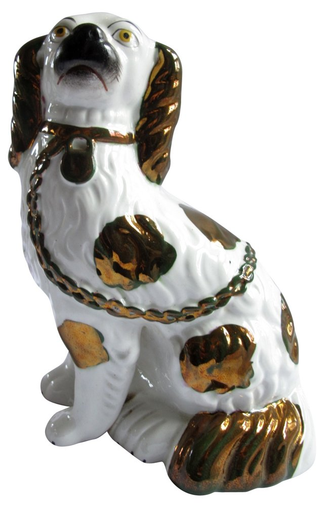 Staffordshire Copper Luster King Charles