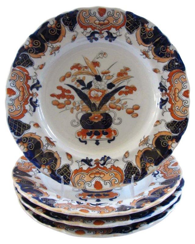 Early Mason's Ironstone Plates, S/4