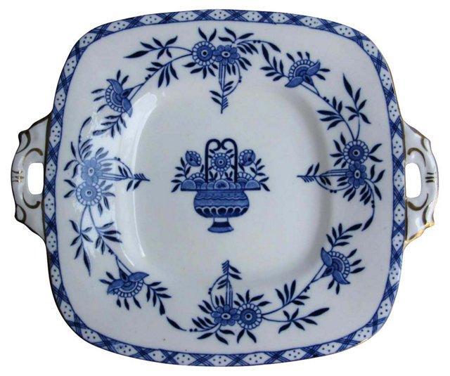 Flow Blue Serving  Plate