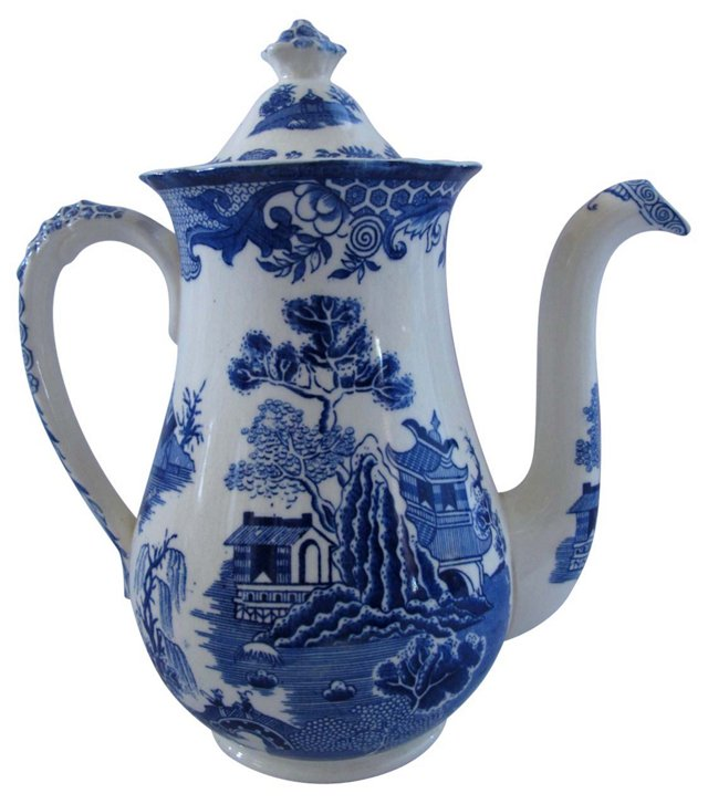 Royal Worcester Willow Coffee Pot