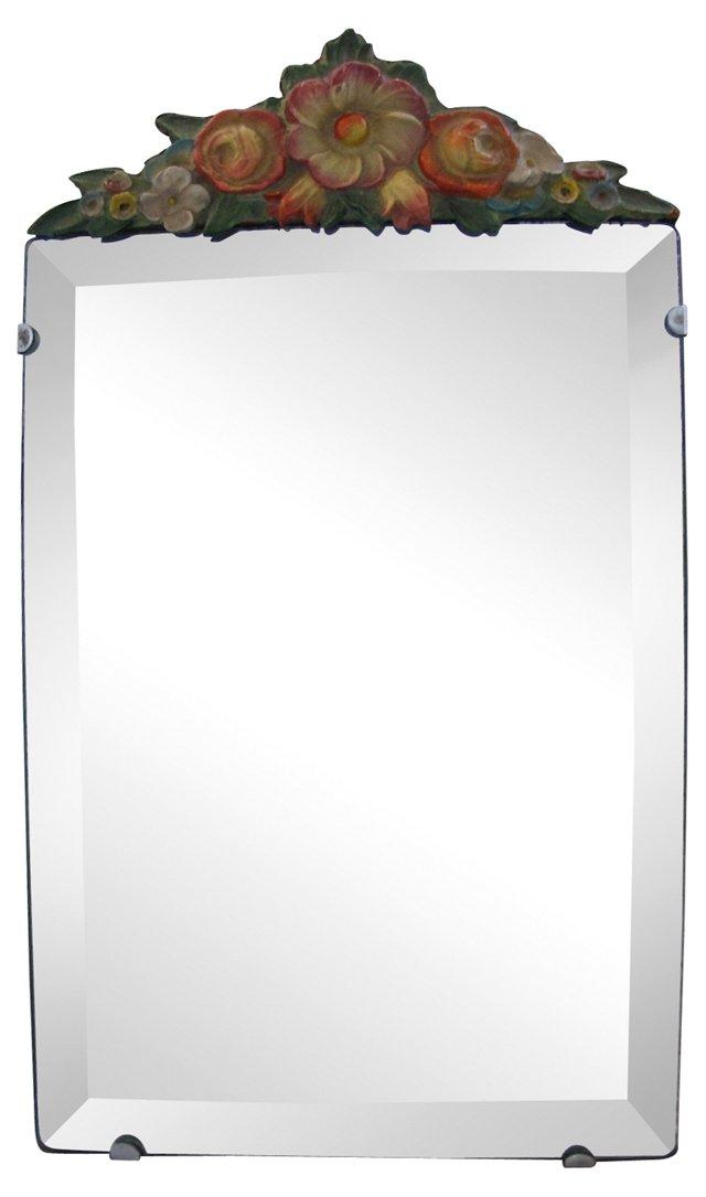 English  Barbola Boudoir  Mirror