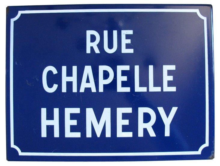French Metal & Enamel Street      Sign