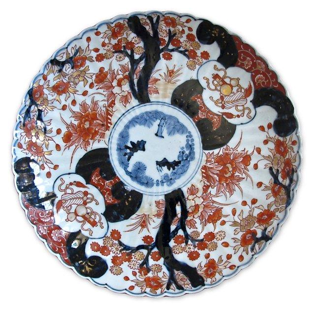 Antique Imari Porcelain   Charger