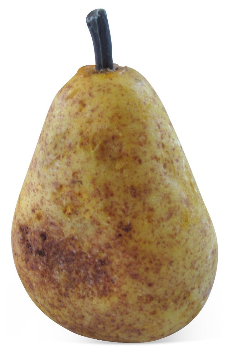 Hand-Painted Alabaster Over-Ripe Pear