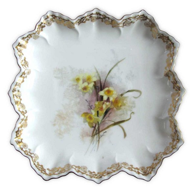 Hand-Painted Daffodil  Doulton Plate