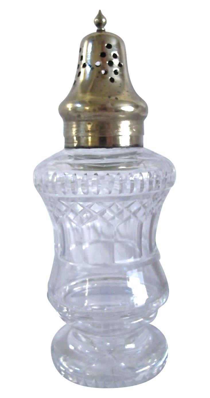 Antique English Cut-Crystal Sugar Shaker