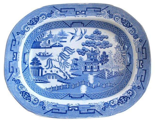 English Willow Platter, C. 1820