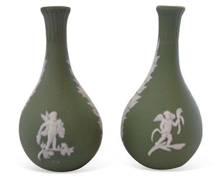 Wedgwood Jasperware Stem Vase, Pair