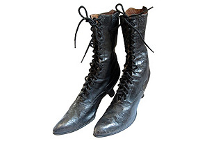 Antique Witch Boots, Pair
