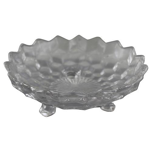 Fostoria Cube Glass Dish