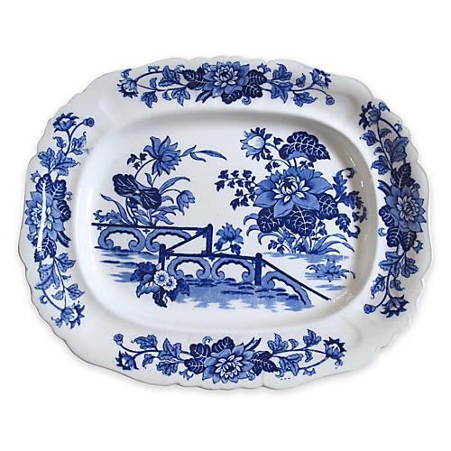 Antique Flow Blue Wall Platter