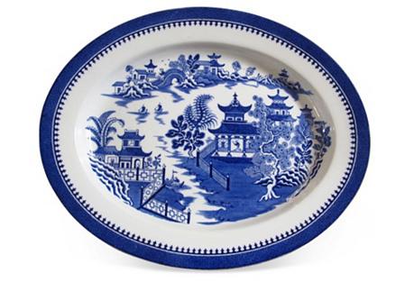 Antique Worcester Willow  Platter
