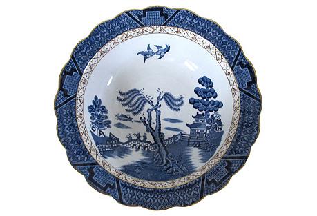English Willow  Serving  Bowl