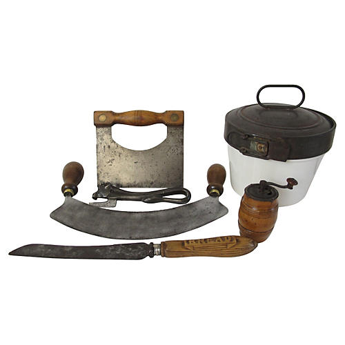 Antique English Kitchen Tools, S/6