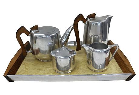 1950s English Coffee/Tea Service, 5 Pcs