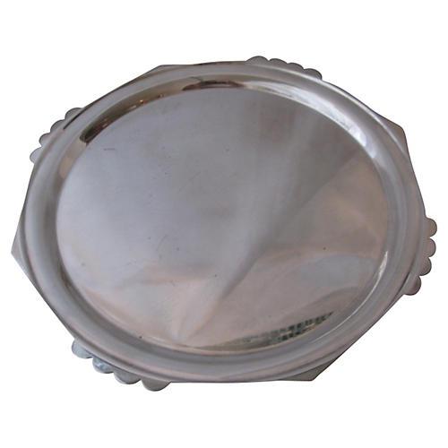 English Art Deco Silver-Plate Tray