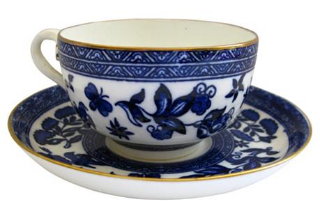 Antique Coalport Porcelain Cup & Saucer