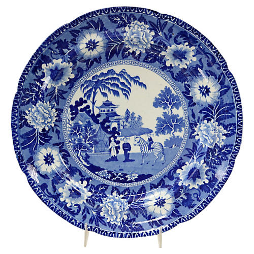 1830s Rogers Zebra Staffordshire Plate