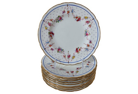 Royal Crown Derby Luncheon Plates, S/10