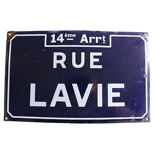 French Enamel Paris Street Sign