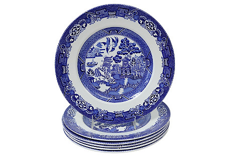 English Willow Luncheon Plates,     S/6