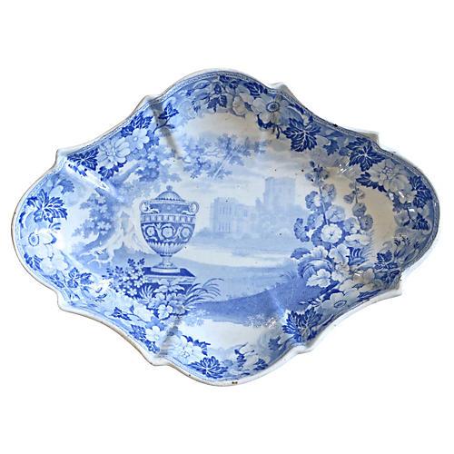 1830s English Transferware Dish