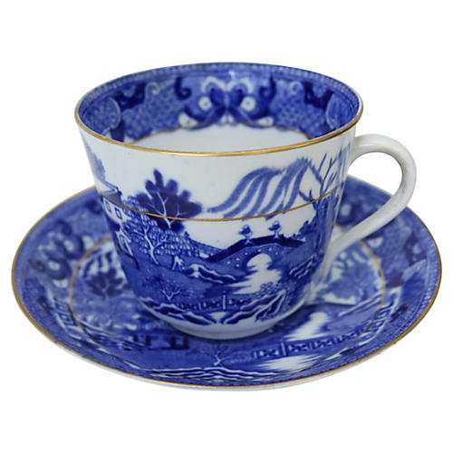 English Willow Breakfast Cup & Saucer