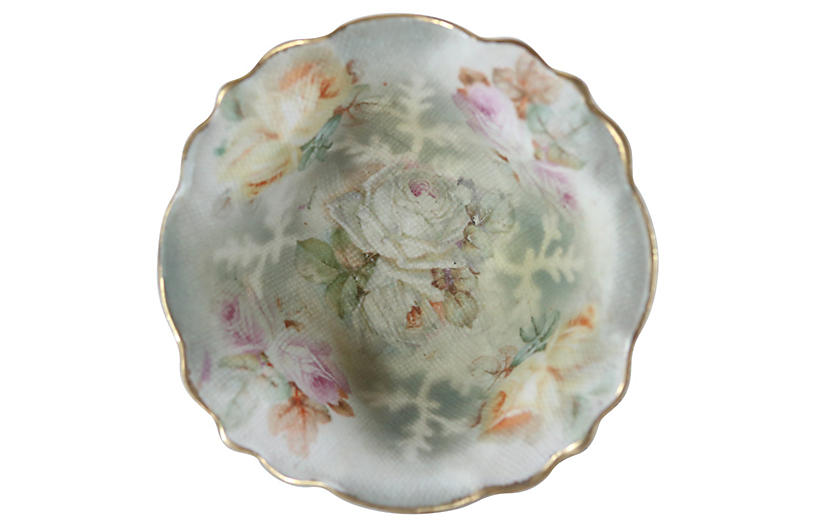 royal bayreuth rose tapestry salt catchalls trays boxes home accents decor. Black Bedroom Furniture Sets. Home Design Ideas
