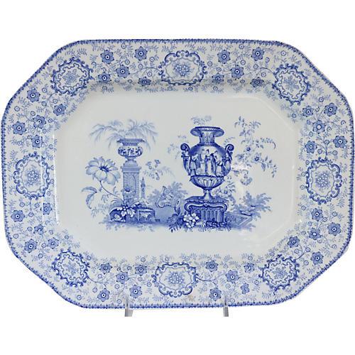 1840s Staffordshire Pompeii Platter