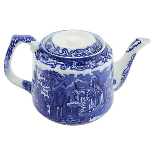 George Jones Flow Blue Teapot