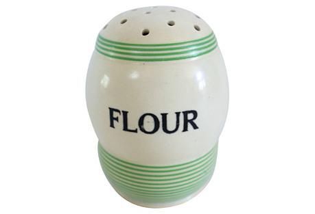 1930s English Flour Shaker