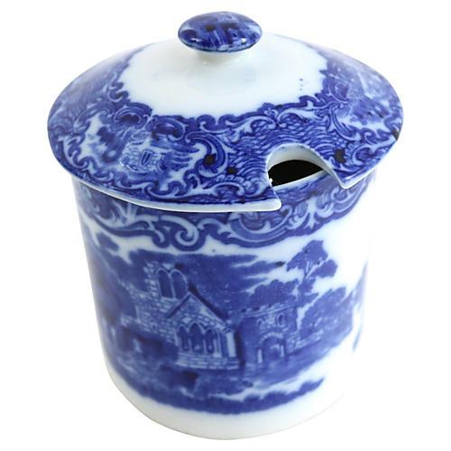 George Jones Flow Blue Abbey Jam Pot