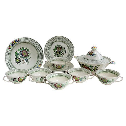 Mason's Ironstone Soup & Salad , 14 Pcs
