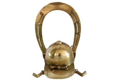 Antique French Horseshoe & Hat Inkwell